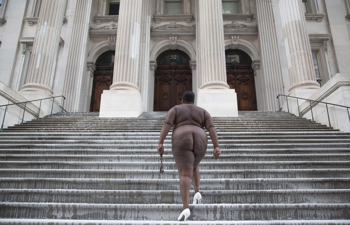 """Judgement Day"", 60 Supreme Court, New York City- Copyright Nona Faustine"