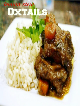 brown stew oxtail