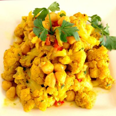 Amazing Curry Cauliflower & Channa