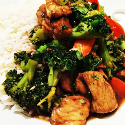 Caribbean Chinese Chicken and Broccoli