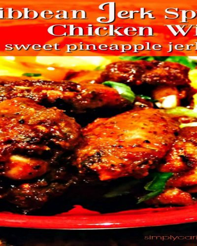 Caribbean Jerk Spiced Chicken Wings