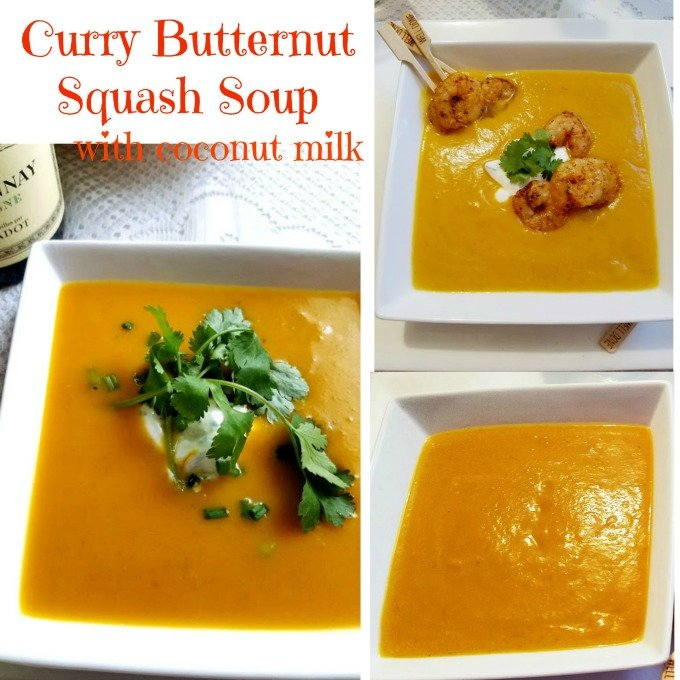 Curry Butternut Squash Coconut Soup with Turmeric
