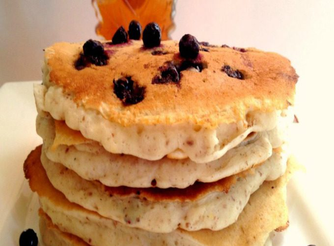 Vegan Blue Berry Pancakes